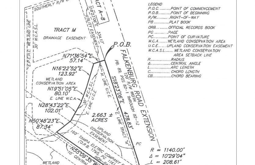 S Falkenburg Rd Property Survey
