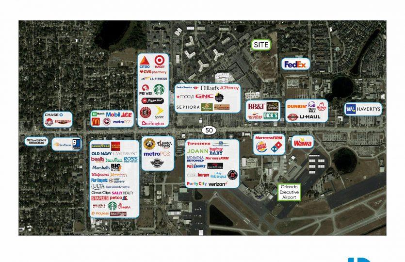 3670 Maguire Boulevard Merchant Aerial